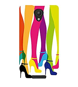 multicoloured girls legs in ballerinas in white background 3D Hard Polycarbonate Designer Back Case Cover for Xiaomi Redmi Note 2 :: Xiaomi Redmi Note 2 (2nd Gen) :: Redmi Note 2 Pro