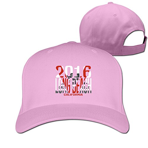 classic-outdoor-long-beach-california-flex-fitted-peak-hat-cap-pink
