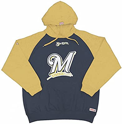 MLB Milwaukee Brewers Men's Big Logo Pullover Hood