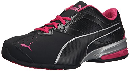 PUMA Women's Tazon 6 Wide Women's Training Shoe, Black/Puma Silver/Beetroot Purple, 7 B US
