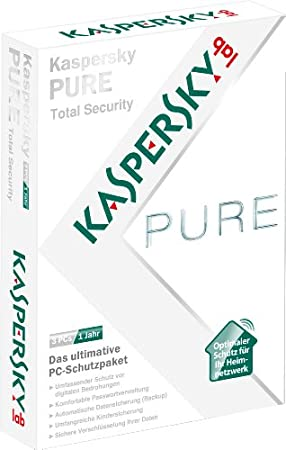 Kaspersky pure total security (3 postes, 1 an) [import allemand]