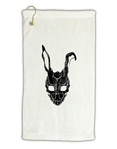 [TooLoud Scary Bunny Face Black Distressed Micro Terry Gromet Golf Towel 11