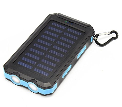 Solar Charger Tagital Solar Power Bank 12000mah External Backup Battery Pack Dual Usb Solar