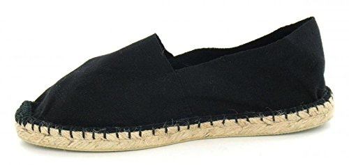 Unknown , Damen Espadrilles Schwarz schwarz, Schwarz - schwarz - Größe: 4 UK