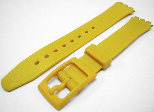 Swatch Style Yellow Resin Rubber Watch Strap Band 14mm