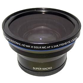 Zeikos ZE-3252F 52mm 0.34X Fisheye Lens