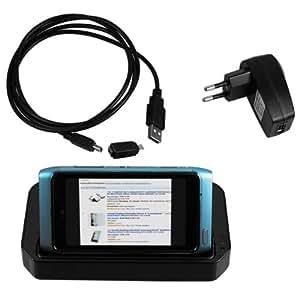 mumbi USB Station d'accueil Nokia N8 + USB Câble de Données + Chargeur Adapteur à secteur USB + Adapateur USB