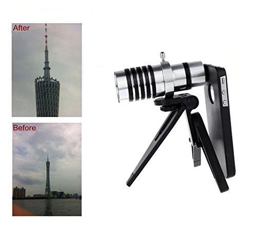 12X Magnification Mobile Phone Telescope Telephoto Optical Camera Lens With Tripod + Case For Iphone 4 4S