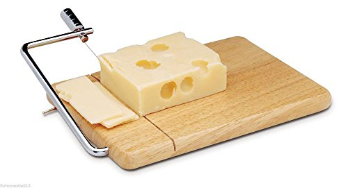 kitchen-tools-norpro-7490-hardwood-cheese-slicer-and-cutting-board-with-2-extra-wires