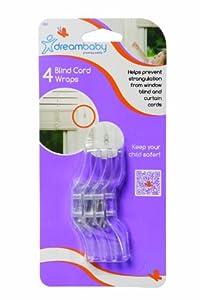 Dreambaby - Protectores para cordones de persianas (4 unidades), color transparente de Dreambaby®