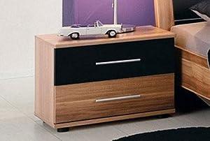 nachttisch nachtkonsole yvonne nussbaum schwarz neu k che haushalt. Black Bedroom Furniture Sets. Home Design Ideas