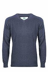 UV&W Full Sleeve V-Neck Anthra Sweater