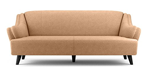 FabHomeDecor Andreas Three Seater Sofa (Beige)