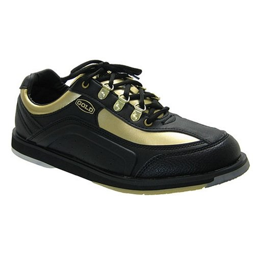 Mens Black/Gold Bowling Shoes by Elite- Right Hand