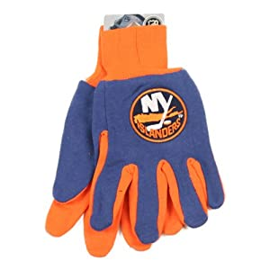 New York Islanders Jersey / Gripper Palm Gloves (One Size Fits Most Ages 15+)
