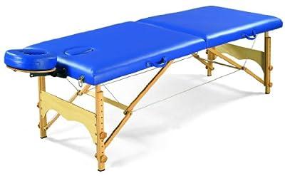 "3B Scientific W60601B Blue Basic Portable Massage Table, 72.5"" Length x 27.5"" Width"