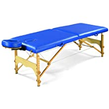 "3B Scientific W60601B Blue Basic Portable Massage Table, 72.5"" Length x 27.5"" Width"