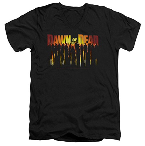 Dawn Of The Dead Walking Dead Slim Fit V-Neck T-Shirt