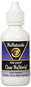 NuNaturals Pure Liquid Clear Stevia, 2 Ounces (Pack of 2)