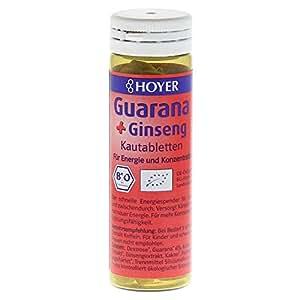 Hoyer Guarana & Ginseng-Kautabletten 60 Tabletten, 1er Pack (1 x 30 g) - Bio