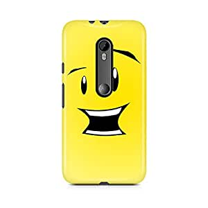 Motivatebox - Moto X Style Back Cover - smiley Polycarbonate 3D Hard case protective back cover. Premium Quality designer Printed 3D Matte finish hard case back cover.