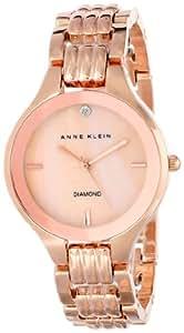 Anne Klein Women's AK/1488RMRG Diamond Dial Rose Gold-Tone Bracelet Watch