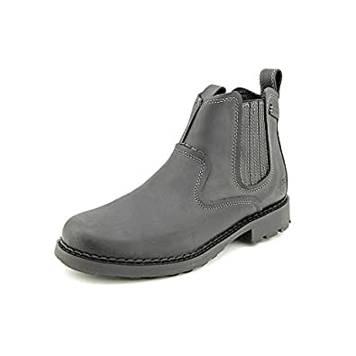 SKECHERS Men's Pemex-Setro Slip-On Boot (Black Leather 6.5 M)