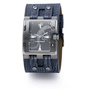 Bruno Banani Men's Watch EO4.797.303 with Blue Dial and Blue Cuff Leather Strap