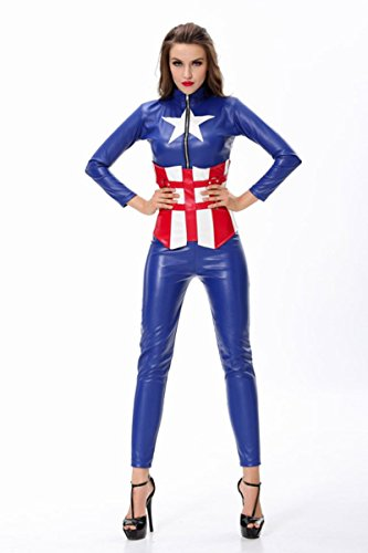Maconaz Captain America American Dream Bodysuit Womens Adult Costume