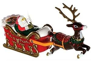 verr ckte weihnachtsdeko fliegender weihnachtsmann amazon. Black Bedroom Furniture Sets. Home Design Ideas