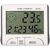 KeptHome LCD Digital Thermometer Hygrometer Temperature Humidity Meter Clock