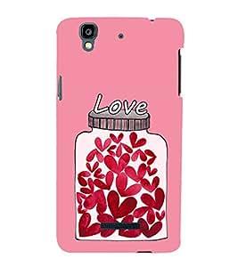 Hearts In a Jar 3D Hard Polycarbonate Designer Back Case Cover for YU Yureka :: YU Yureka AO5510
