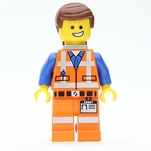Lego Movie Loose Emmet Minifigure with Piece of Resistance (Grin) - 1
