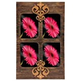 Butterfly Homes Wooden Photo Frame - (20 X 12 X 1, Black Copper)