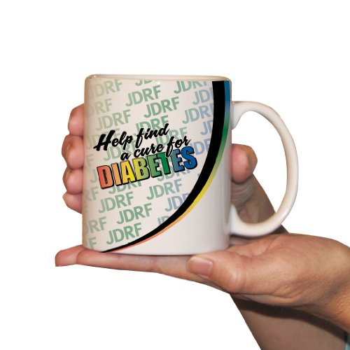"Juvenile Diabetes Awareness Coffee Mug - ""Help Find A Cure"" - 15Oz"
