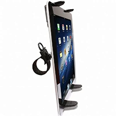 High Quality Zip-Grip Bicycle, Treadmill, Exercise Bike Handlebar Mount Holder for Apple iPad Mini / Ipad 2 / Ipad 3 / Ipad 4 Tablet and Ipad Air (use with or without case protector)