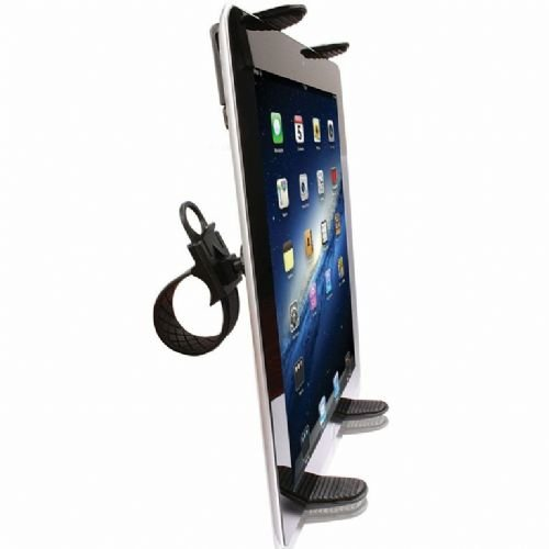 High Quality Zip-Grip Bicycle, Treadmill, Exercise Bike Handlebar Mount Holder for Apple iPad 2 / ipad 3 / ipad 4 / ipad Air Tablet (use with or without case protector)
