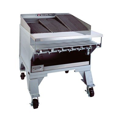 Bakers Pride Dante CH Extra Heavy Duty Floor Radiant Gas Char Broiler, 54 5/8 x 36 1/4 x 40 inch -- 1 each.