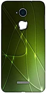 Snoogg abstract green shapes background texture Hard Back Case Cover Shield For Coolpad Note 3 (White, 16GB)