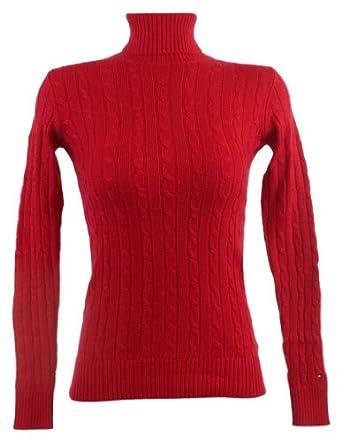 Tommy Hilfiger Womens Wool/Alpaca Blend Turtleneck Sweater - XXL - Red