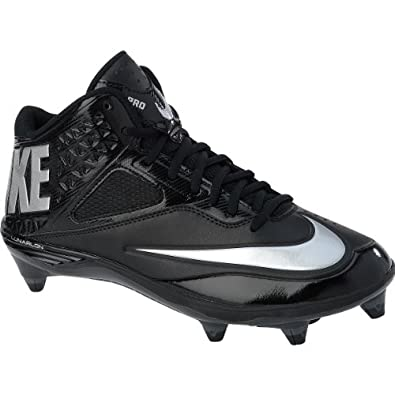 Mens Nike Code Pro 3 4 Detachable WIDE Football Cleat Black Silver by Nike