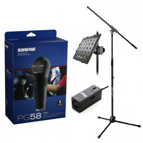 Shure Pg58-Xlr Cable Stand Iklip 2 Irig Pre Iphone/Ipod Touch/Ipad Interface