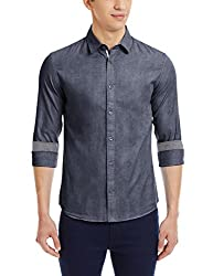 Celio Men's Casual Shirt (3596654135771_Caelbow2Aw15_X-large_Marine)