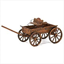 Buckboard style Rustic Fir Wood Home Garden Decor Wagon