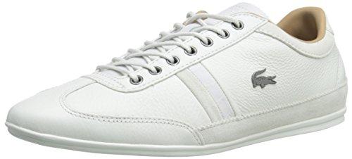 Lacoste Men's Misano 36 Srm Fashion Sneaker, White, 8.5 M US