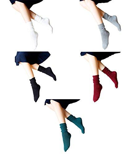 Zando -  Calze sportive  - Donna Mix Color-5 Pairs C Taglia unica