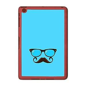 Skin4gadgets Hipster Pattern- Glasses, Mustache, Color - Light Blue Tablet Designer SMART CASE for IPAD MINI3