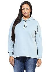 GRAIN Sky Blue Color Regular fit Plain Solid Cotton Jackets for Women
