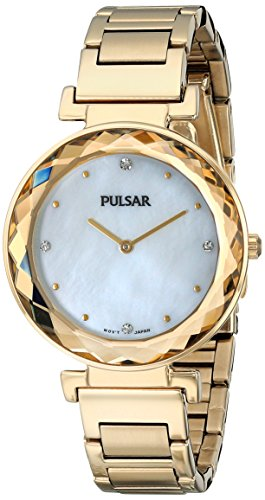 Pulsar Two-Hand Stainless Steel - Gold-Tone Women's watch #PM2080