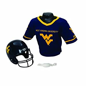 NCAA West Virginia Helmet and Jersey Set